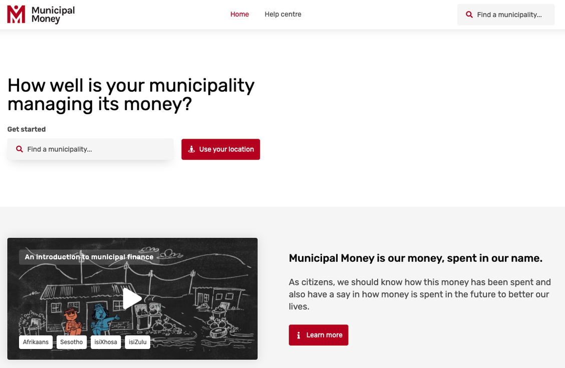 Municipal Money Homepage