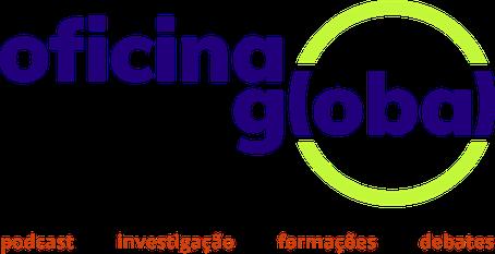 Logo Oficina Global com descrição das áreas de atuação: podcast, estágios, workshops, seminários