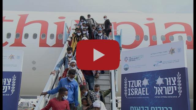 Les Juifs d'Éthiopie rentrent en Israël.