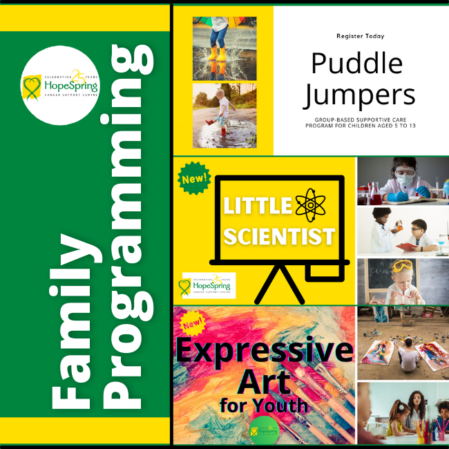 Family Programming, puddle jumpers, little scientist, expressive art for youth