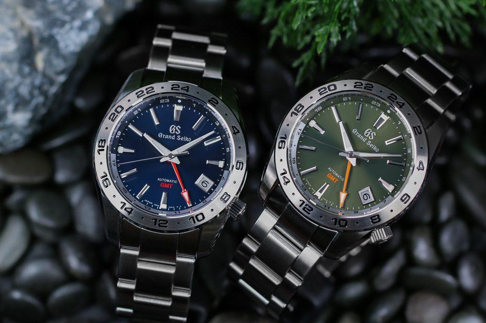 Two Grand Seiko stainless steel timepieces