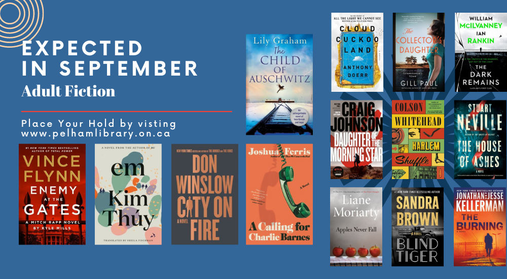Expected Adult Fiction in September