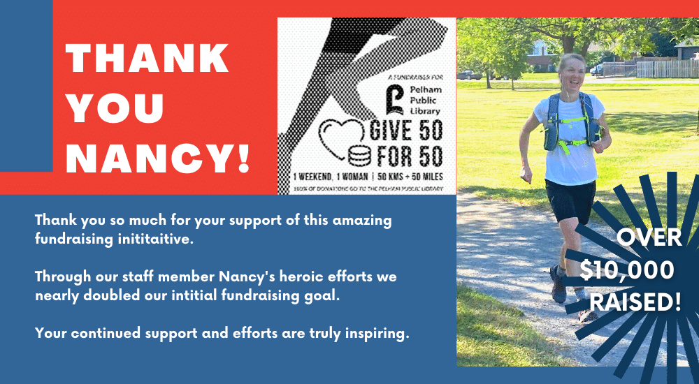 Thank you so much for your support of this amazing fundraising inititaitive.  Through our staff member Nancy's heroic efforts we nearly doubled our intitial fundraising goal.   Your continued support and efforts are truly inspiring.  OVER $10,000 RAISED!