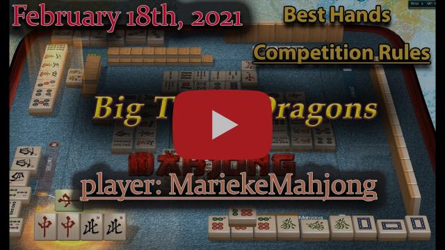 MCR Hand of the Week (Feb 18th, 2021) - Big Three Dragons worth 330 points!