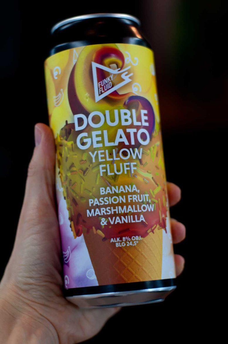 Funky Fluid Double Gelato Yellow Fluff