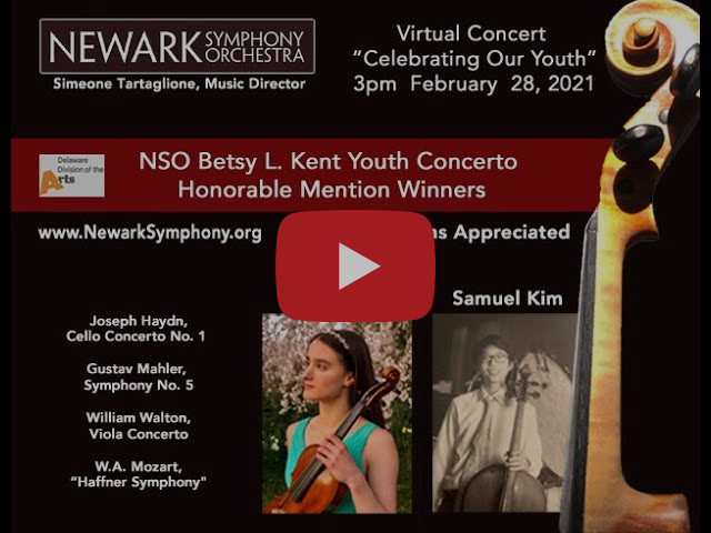 """February 28, 2021 - Virtual Concert """"Celebrating Our Youth"""""""