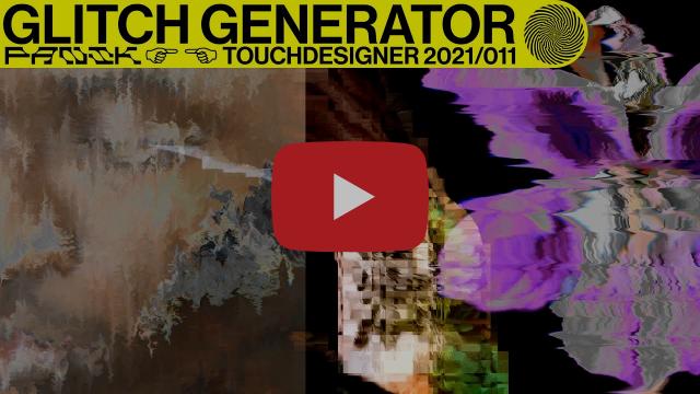 TOUCHDESIGNER TUTORIAL 21/11 - GLITCH GENERATOR