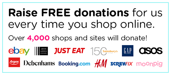 Raise FREE donations for us every time you shop online.