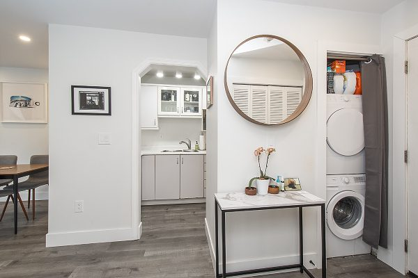 entrance & in-suite laundry