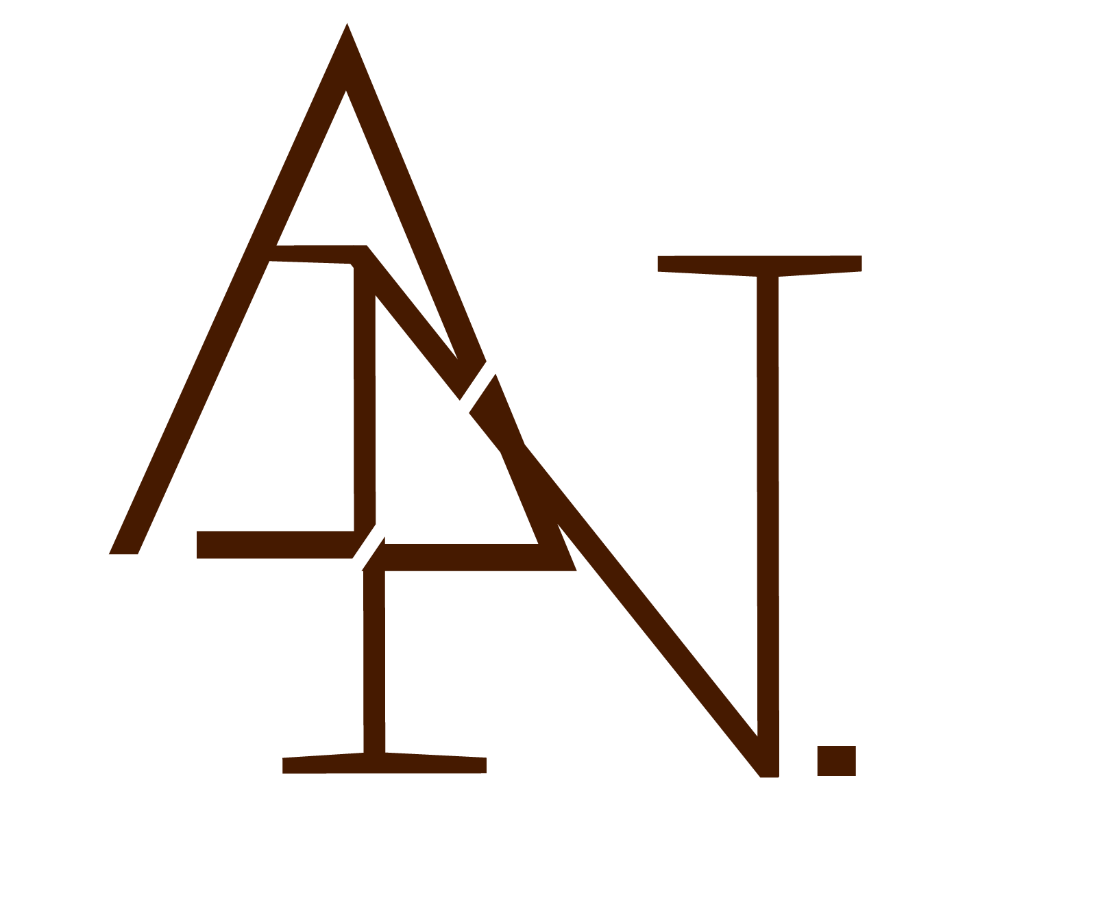 the initials A and N