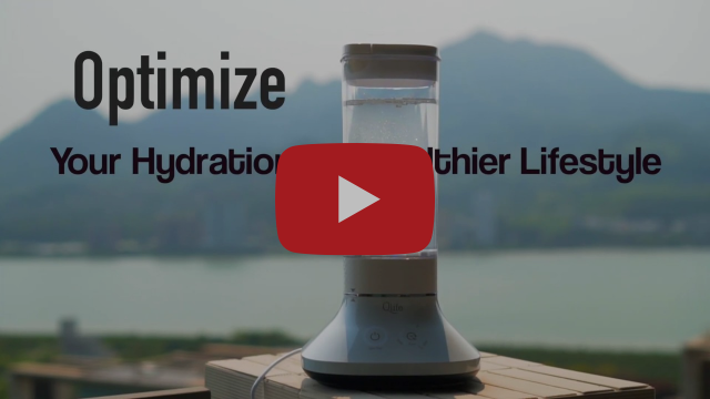 Qlife H2 WELL Countertop Hydrogen Water Generator - Platinum SPE Membrane for Max H2 Concentration