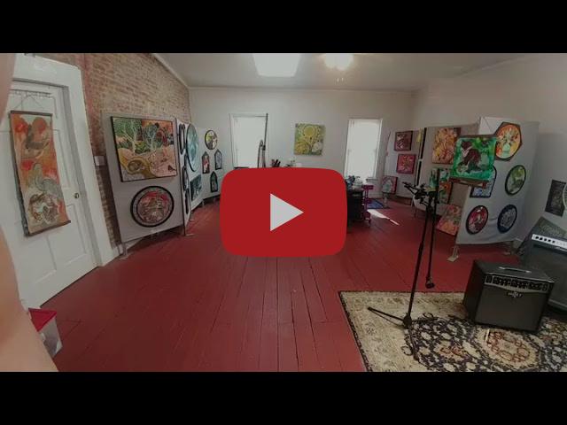 Artist Lynnette Shelley's studio (April 2021)