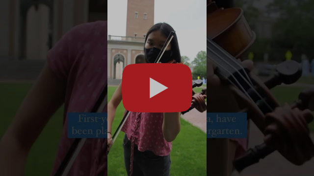 Violin Practice at the Bell Tower