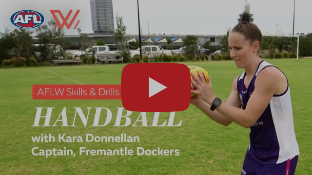 AFLW Skills & Drills | Handballs with Kara Donnellan