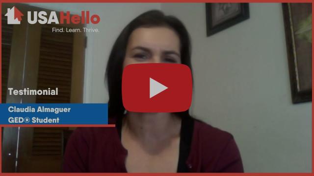 Claudia's Testimony on USAHello's GED course