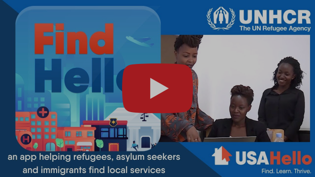 FindHello - a free app to help refugees, asylum seekers and immigrants find local services.