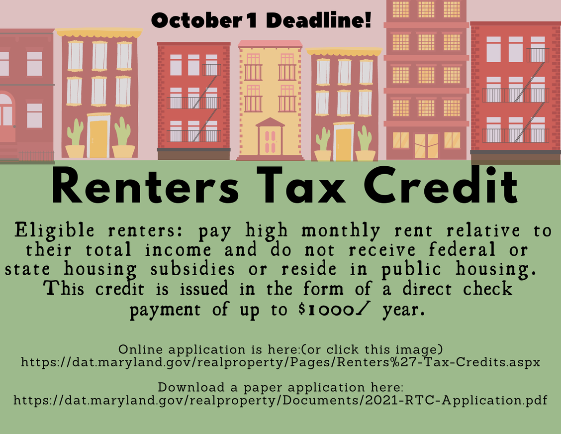 Click for rental tax credit application