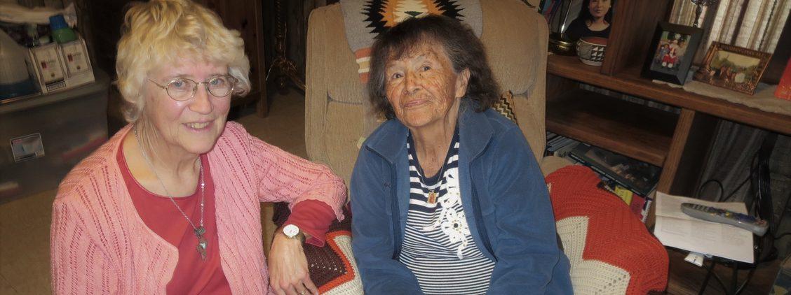 Sister Josephine Goebel with Navajo elderwoman