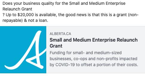 Small and Medium Enterprise Relaunch Grant
