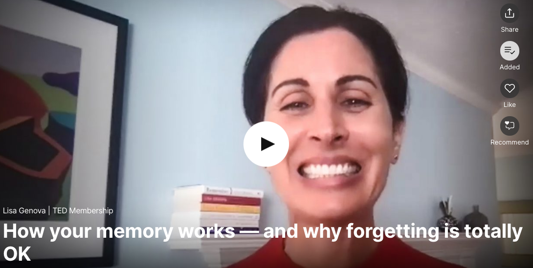 How your memory works -- and why forgetting is totally OK