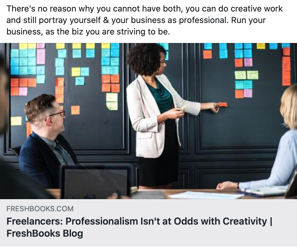 Freelancers: Professionalism Isn't at Odds with Creativity
