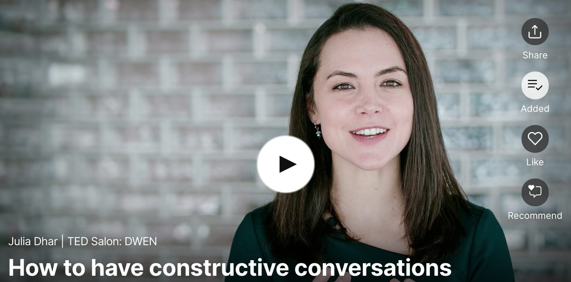 Julia Dhar: How to have constructive conversations