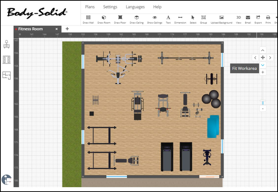 Room Planner overhead 2D view