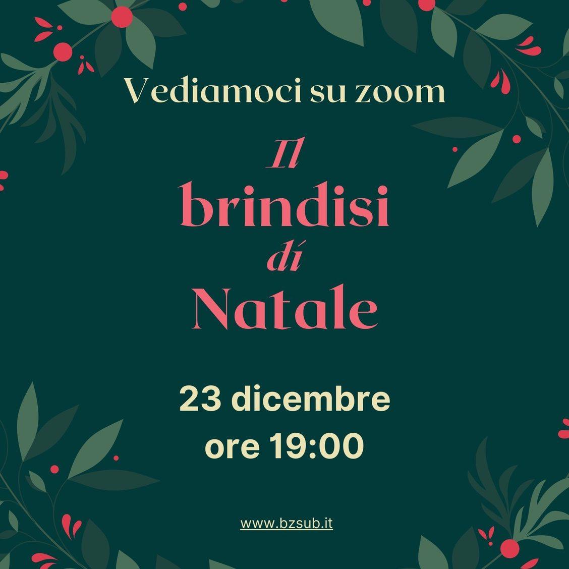 Brindisi virtuale di Natale con Bolzano Sub mercoledì 23 dicembre alle 19:00