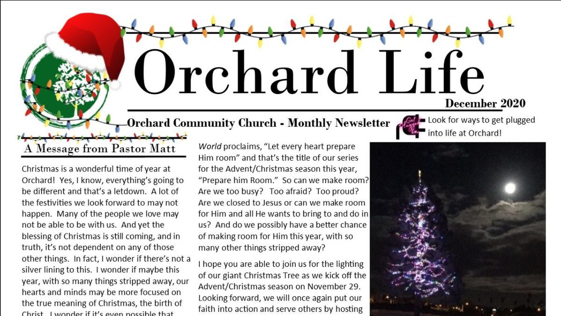 December Issue of the Orchard Life