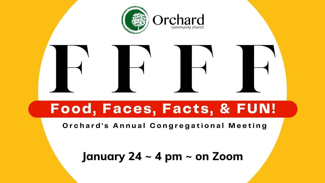 FFFF - Food Faces Facts and Fun January 24 at 4 pm via Zoom