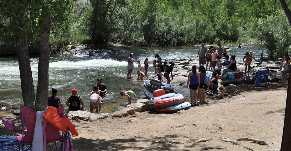 Clear Creek busy on a summer day