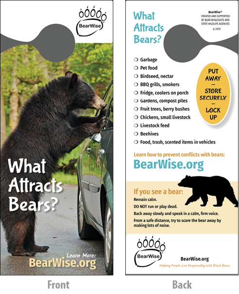 What Attracts Bears? door hanger