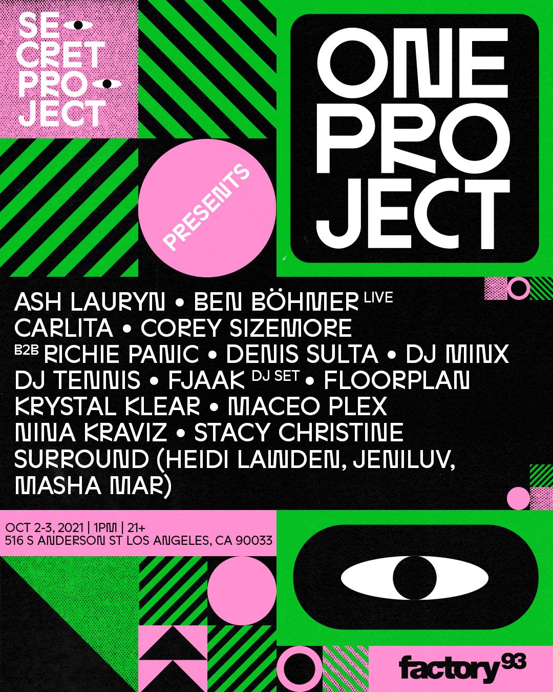 Factory 93 reveals Secret Project's 'One Project' lineup: Nina Kraviz, Maceo Plex, and moreA4d9a96c 42d0 2409 46ff 03859f155551.png?w=564&dpr=2