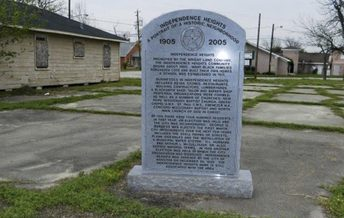 Historic Marker for Independence Heights