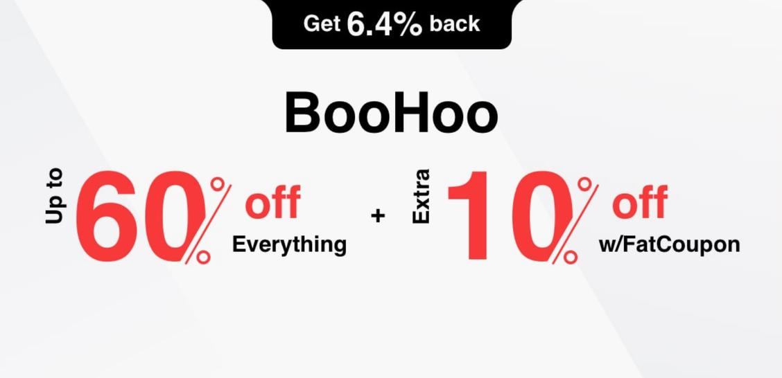 BooHoo Promo Codes and Cash Back