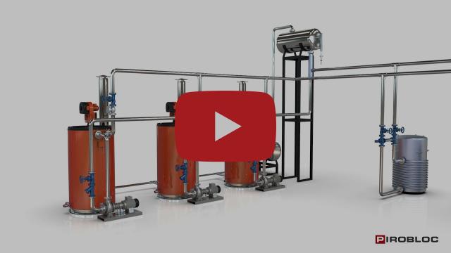 Sistema de calentamiento industrial con calderas de aceite térmico conectadas para ahorro de energía