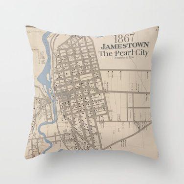 The Pearl City - Jamestown NY Pillow